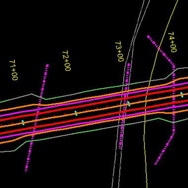 skewed cross sections